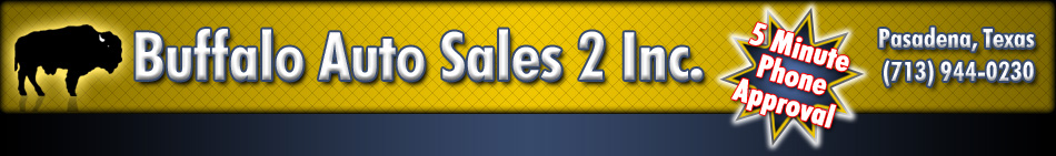 Buffalo Auto Sales 2 - Pasadena, TX - Website Header Image